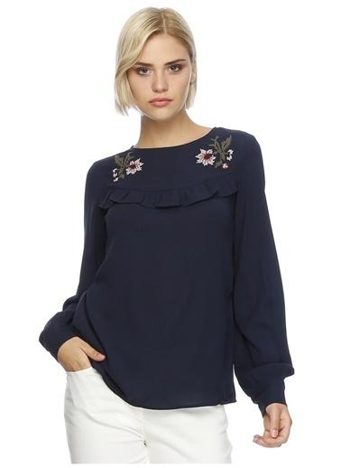 Vero Moda Bluz Lacivert